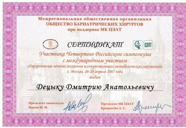 diploma sertif 13 - Децык Дмитрий Анатольевич