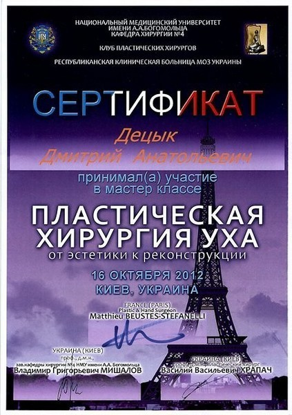 diploma sertif 31 - Децык Дмитрий Анатольевич